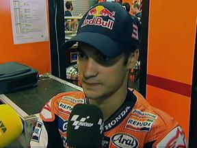 Pedrosa at front of second row