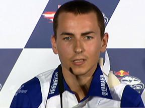 Lorenzo comments on crash in press conference