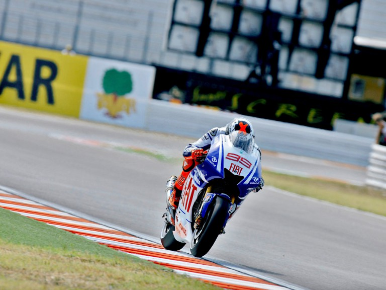 Jorge Lorenzo in action in Misano