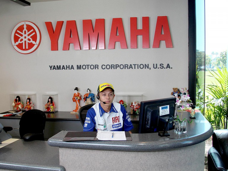 Valentino Rossi at the Yamaha Motor Company headquarters