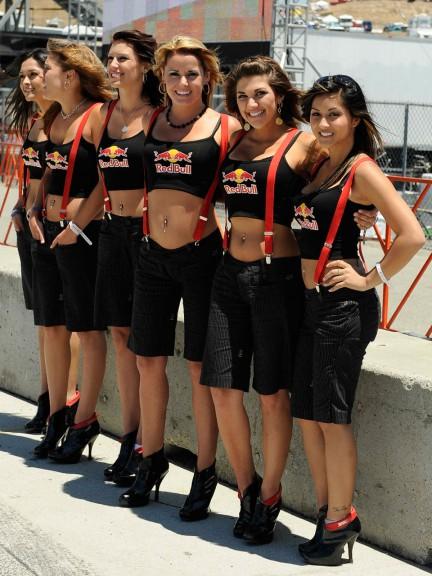 Paddock girls at the Red Bull U.S. Grand Prix