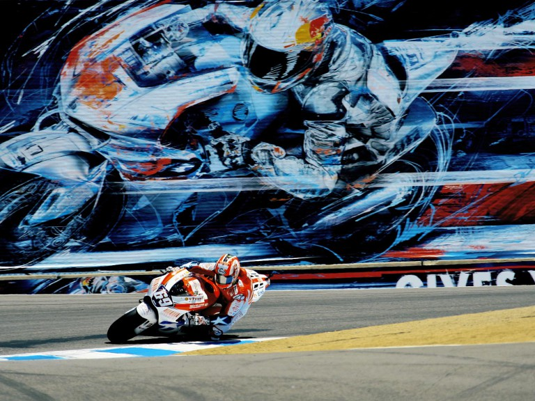 Nicky Hayden in action at the Red Bull U.S. Grand Prix