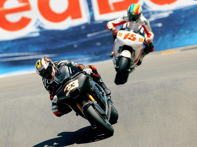 Marco Melandri in action at Laguna Seca