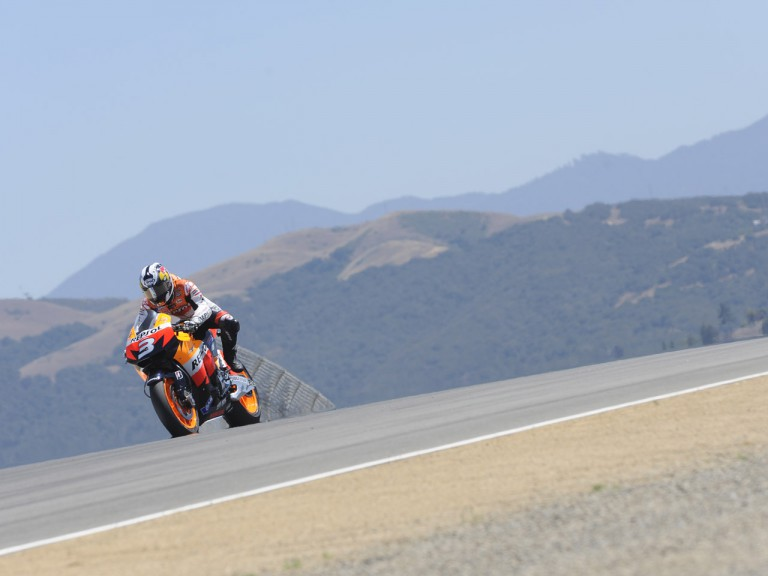 Pedrosa in action at Laguna Seca