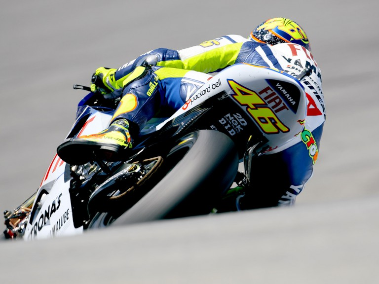 Valentino Rossi in action at the Red Bull U.S. Grand Prix