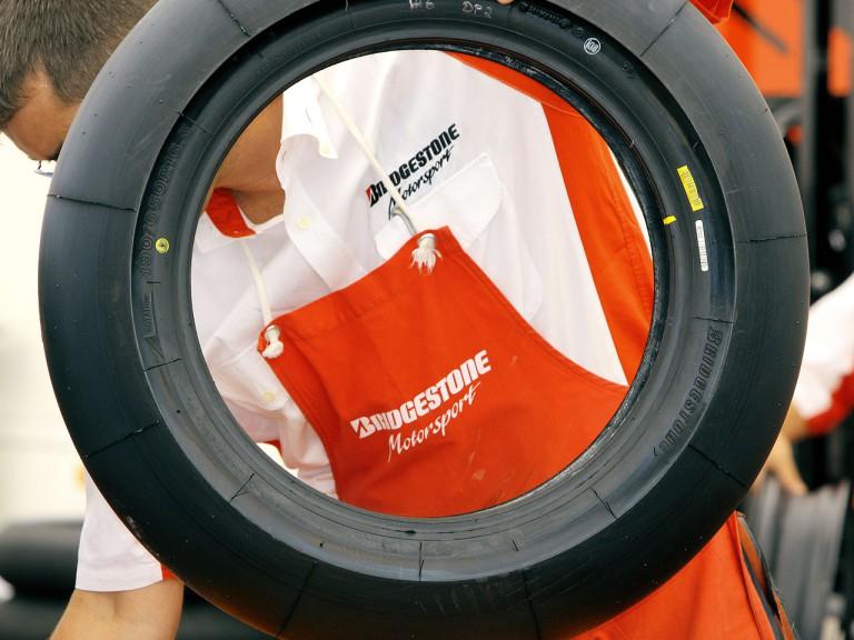 Bridgestotone technician working at tyre