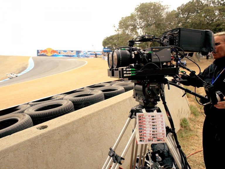 HD 3D Camera on track at the Red Bull U.S. Grand Prix