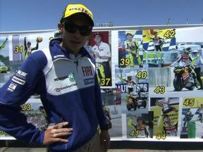 Rossi's century of GP wins