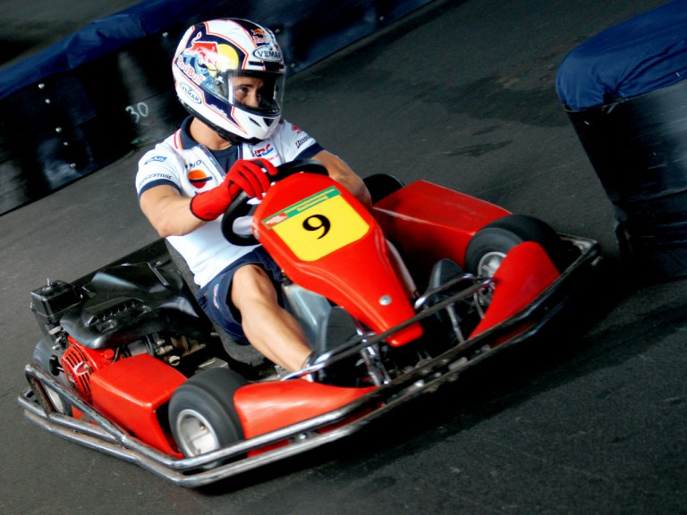 Andrea Dovizioso in Kart event