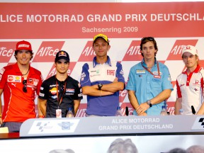 MotoGP Riders at the Alice Motorrad Grand Prix Deutschland