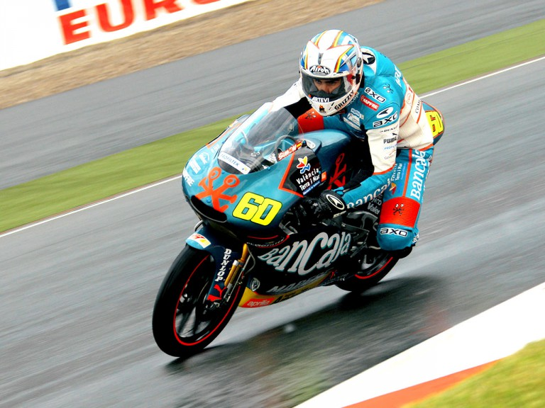julian Simón in action in Sachsenring