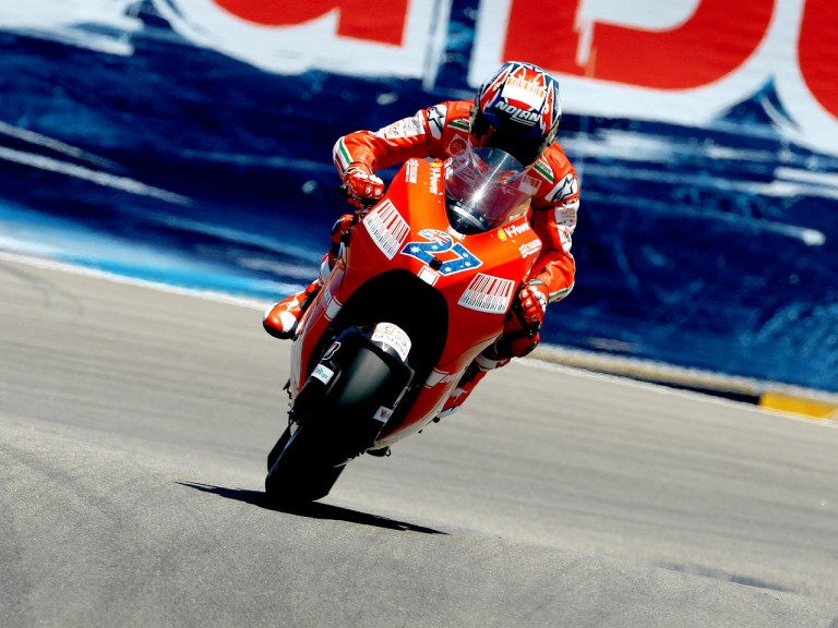 Casey Stoner in action in Laguna