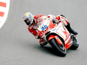 Niccolò Canepa in action in Sachsenring