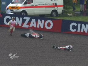 Niccolo Canepa crash during QP in Sachsenring