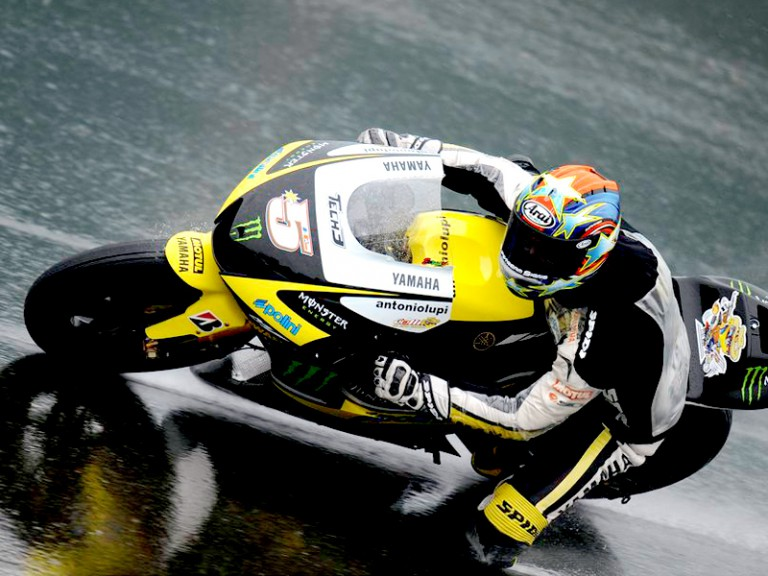 Colin Edwards in action in Sachsenring