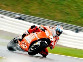 Nicky Hayden in actionin Sachsenring