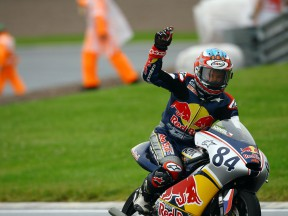 Red Bull MotoGP Rookie Jakub Kornfeil takes victory at the Sachsenring