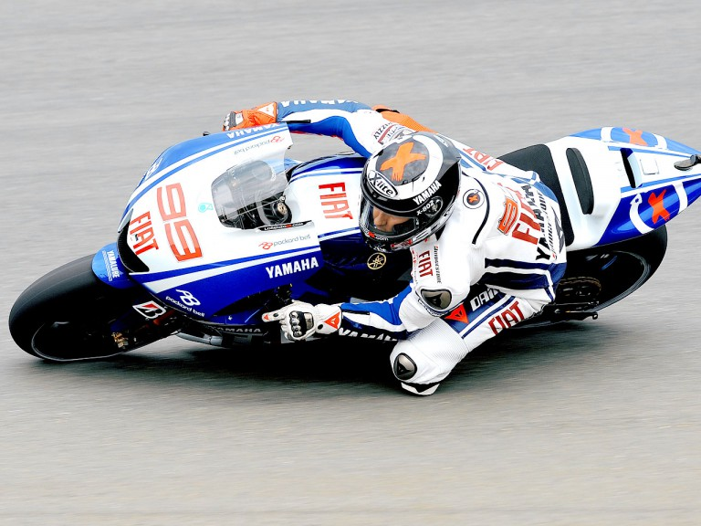 Jorge Lorenzo in action in Sachsenring