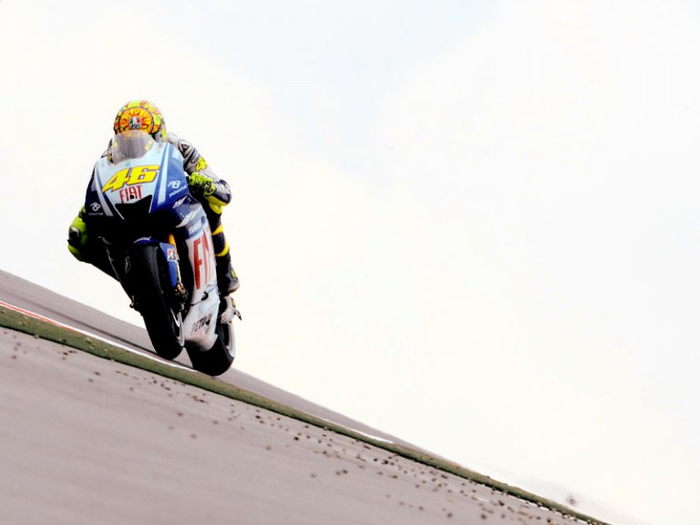 Valentino Rossi in action in Sahcsenring