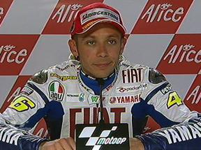 Valentino Rossi interview after QP in Sachsenring