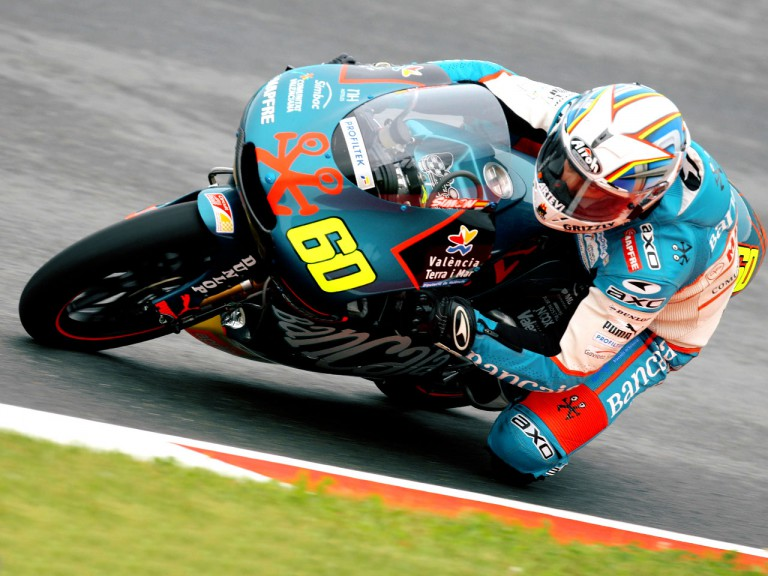 Julián Simón in action in Sachsenring