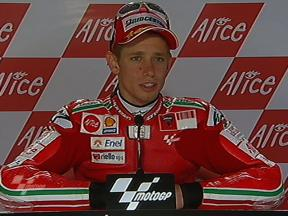 Casey Stoner interview after QP in Sachsenring