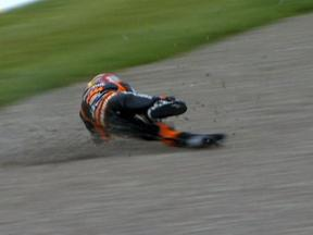 Marc Marquez crash during race in Sachsenring