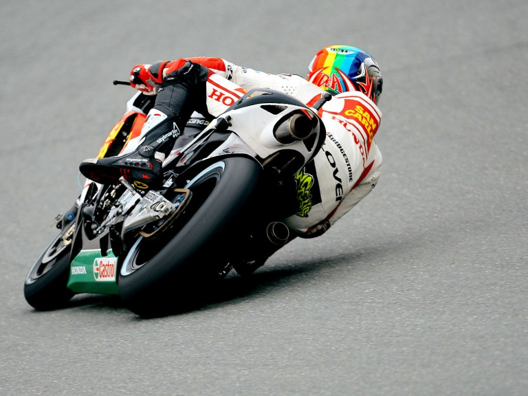 Alex de Angleis in action in Sachsenring