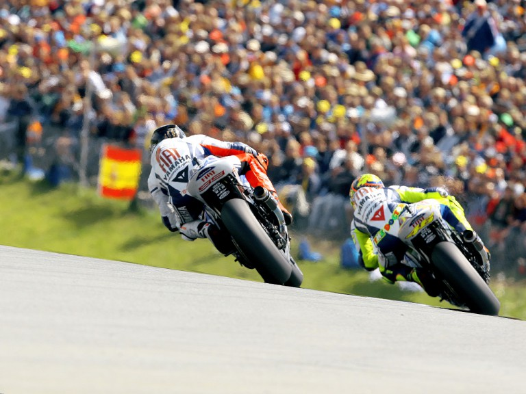Action of Lorenzo and Rossi in Sachsenring