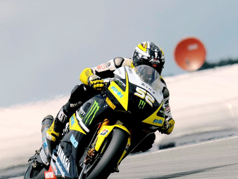 James Toseland in action in Sachsenring