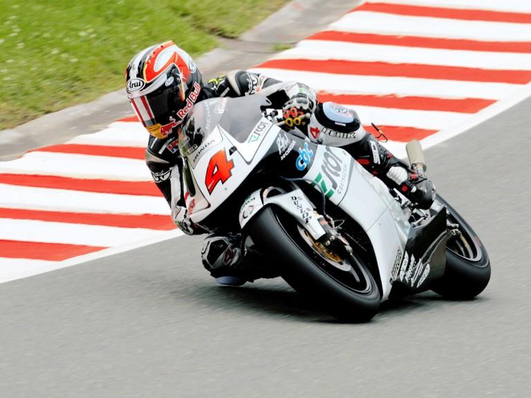 Hiroshi Aoyama in action in Sachsenring
