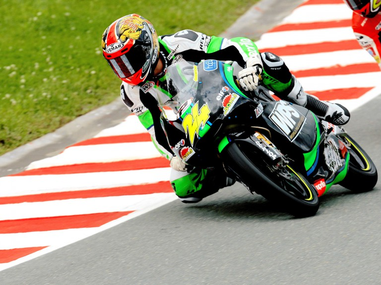 Simone Corsi in action in Sachsenring