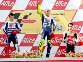 Lorenzo, Rossi and Pedrosa on the podium at the Alice Motorrad GP Deutschland