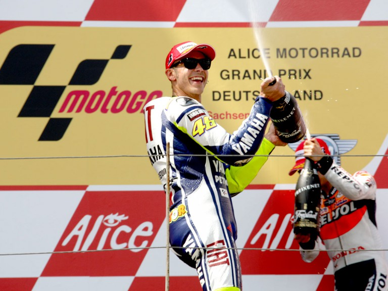 Rossi and Pedrosa celebrates podium in Sachsenring