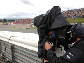The Antelope High Speed Camera in action at the Sachsenring circuit