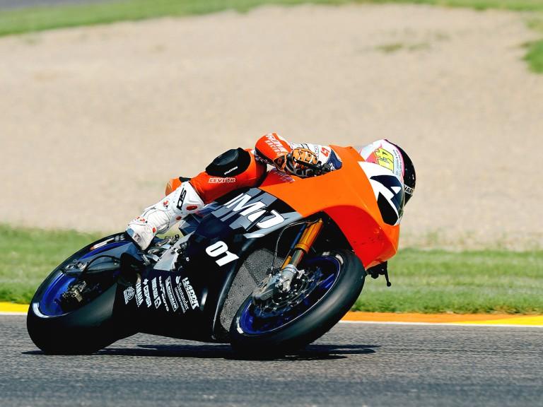 Moto2 Rider Aleix Espargaró in action in Valencia