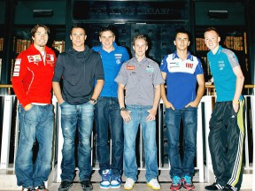 MotoGP Riders in the British Library in London