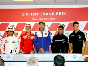 MotoGP Riders at the British Grand Prix press conference