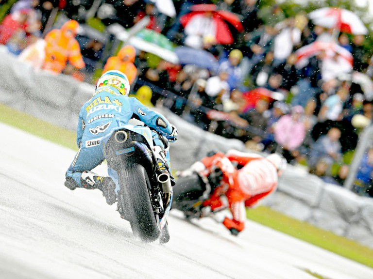Loris Capirossi in action in Donington