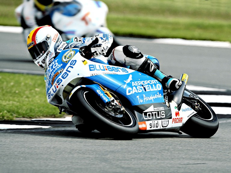 Alex Debon in action in Donington