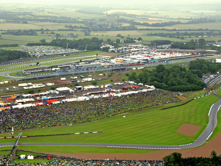 Aerial view of Donington Circuit