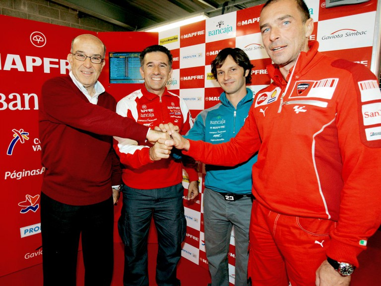 Aspar confirms MotoGP deal with Ducati (Ezpeleta, Aspar, Borsoi, Suppo)