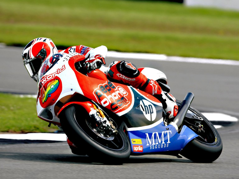 Héctor Barberá in action in Donington