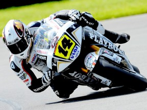 Randy de Puniet in action in Donington