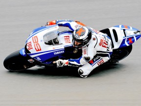 Jorge Lorenzo in action in Donington