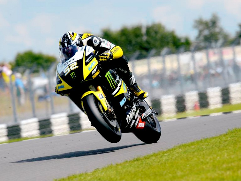 James Toseland in action in Donington