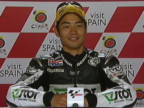 Hiroshi Aoyama interview after race in Donington Park