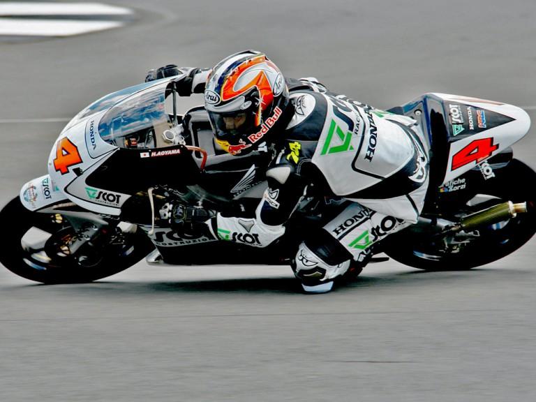 Hiroshi Aoyama on track