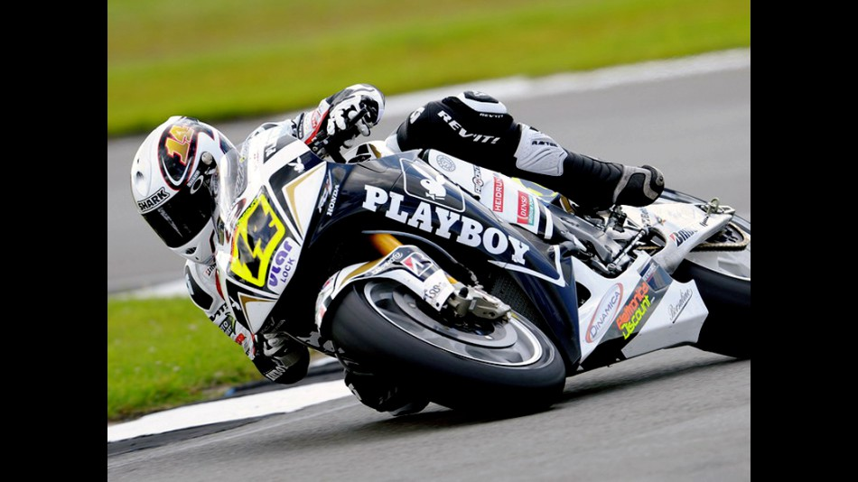 Randi de Puniet in action in Donington