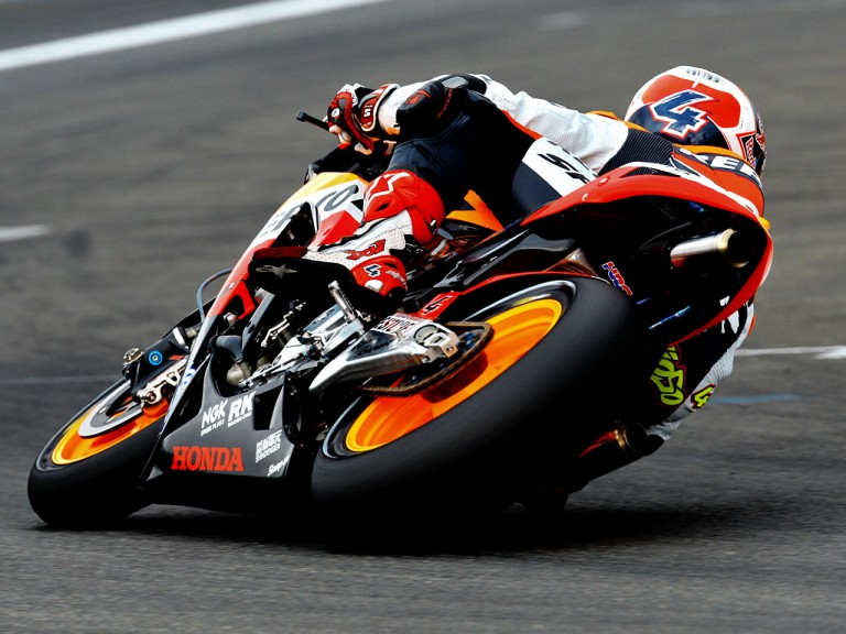 Andrea Dovizioso in action